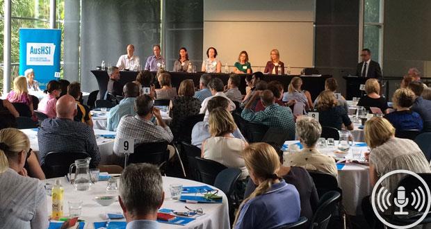 The Australian Centre for Health Services Innovation's (AusHSI) Taking Healthcare Home forum. Image: AusHSI's Twitter.